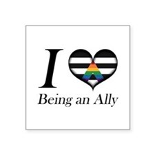 I Heart Being an Ally Sticker