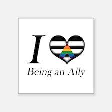 I Heart Being an Ally Sticker