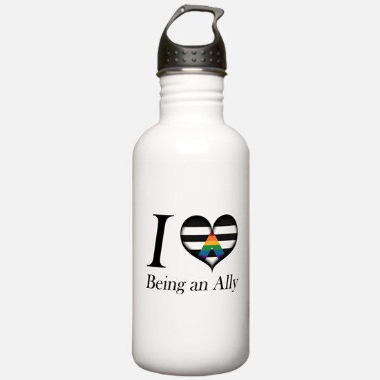 I Heart Being an Ally Water Bottle