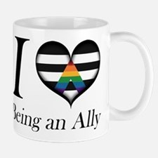 I Heart Being an Ally Mugs