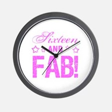 Fabulous 16th Birthday Wall Clock