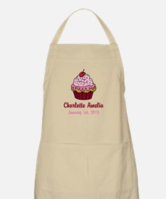 CUSTOM Cupcake w/Baby Name and Date Apron