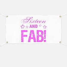 Fabulous 16th Birthday Banner
