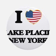 I love Lake Placid New York Ornament (Round)