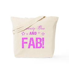 Fabulous 21st Birthday Tote Bag