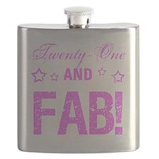 Fabulous 21st Birthday Flask