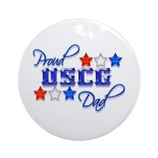 USCG Dad Ornament (Round)