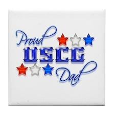USCG Dad Tile Coaster