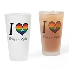I Heart Being Two-Spirit Drinking Glass