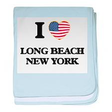 I love Long Beach New York baby blanket