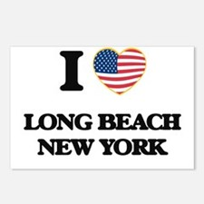 I love Long Beach New Yor Postcards (Package of 8)