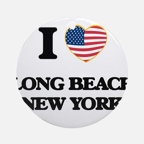 I love Long Beach New York Ornament (Round)