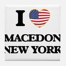 I love Macedon New York Tile Coaster