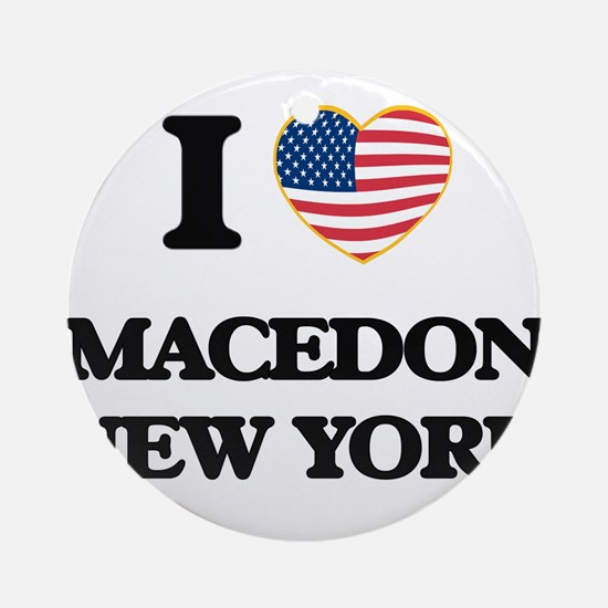 I love Macedon New York Ornament (Round)