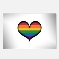 LGBT Rainbow Heart Postcards (Package of 8)