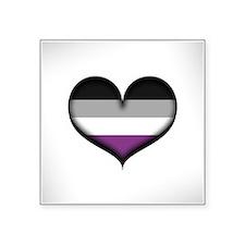 "Asexual Heart Square Sticker 3"" x 3"""