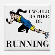 Rather Be Running Tile Coaster