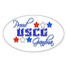 USCG Grandma Oval Bumper Stickers