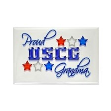 USCG Grandma Rectangle Magnet