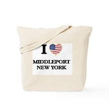 I love Middleport New York Tote Bag