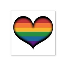 LGBT Rainbow Heart Sticker