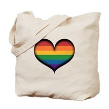 LGBT Rainbow Heart Tote Bag