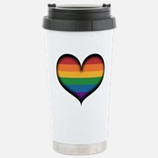 LGBT Rainbow Heart Travel Mug