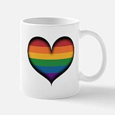 LGBT Rainbow Heart Mugs