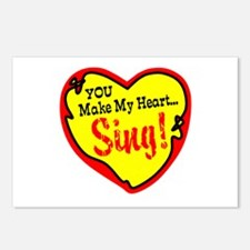 You Make My Heart Sing Postcards (Package of 8)