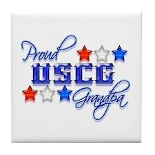 USCG Grandpa Tile Coaster