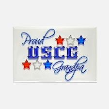 USCG Grandpa Rectangle Magnet