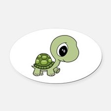 Baby Turtle Oval Car Magnet
