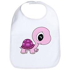 Pink Baby Turtle Bib