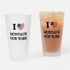 I love Montauk New York Drinking Glass