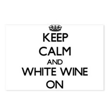Keep Calm and White Wine Postcards (Package of 8)