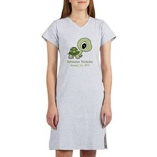 CUSTOM Green Baby Turtle w/Name and Date Women's N