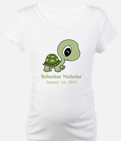 CUSTOM Green Baby Turtle w/Name and Date Shirt
