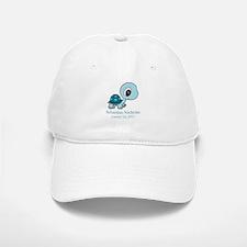 CUSTOM Baby Blue Turtle w/Name and Date Baseball C