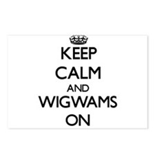 Keep Calm and Wigwams ON Postcards (Package of 8)