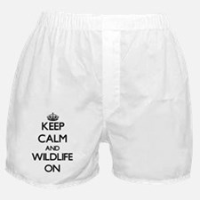 Keep Calm and Wildlife ON Boxer Shorts