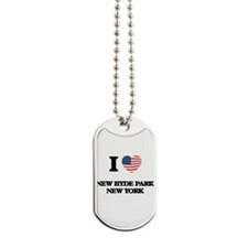 I love New Hyde Park New York Dog Tags
