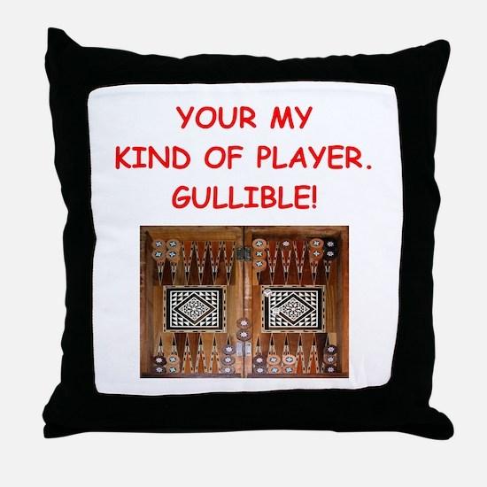 Cute Backgammon Throw Pillow