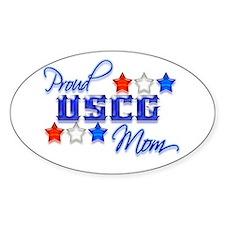 USCG Mom Oval Decal