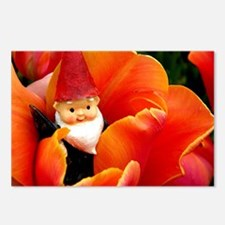 Cute Traveling gnome Postcards (Package of 8)