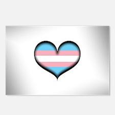 Transgender Heart Postcards (Package of 8)