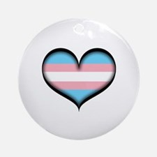 Transgender Heart Ornament (Round)
