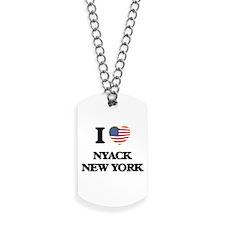 I love Nyack New York Dog Tags