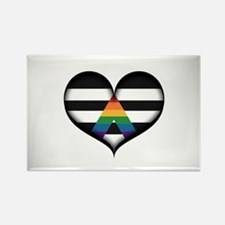 LGBT Ally Heart Rectangle Magnet