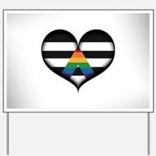 LGBT Ally Heart Yard Sign