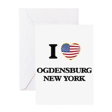 I love Ogdensburg New York Greeting Cards